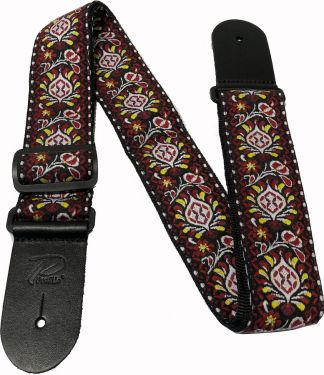 "Profile THW22RD Woven Strap, 2"" Jacquard woven guitar strap with cl"