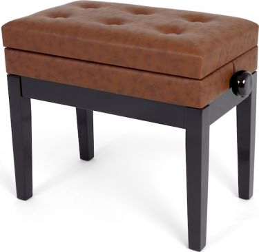 Profile HY-PJ007-RW Piano Bench with lid, Adjustable piano bench wi