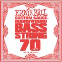 Bas Strenge, Ernie Ball EB-1670, Single .070 Nickel Wound string for Electric Bass