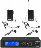 WM522B VHF 2-Channel Microphone Set with 2 Bodypacks