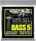 Bas Strenge, Ernie Ball EB-3836, Coated 5-str Regular Slinky 45-130