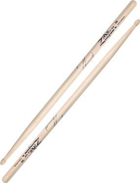 Zildjian 5A Hickory - Wood Tip, The most popular model. Full-size o