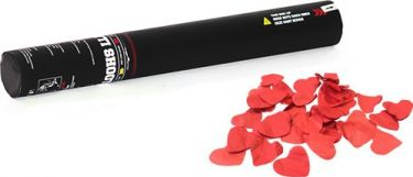 TCM FX Handheld Confetti Cannon 50cm, red hearts