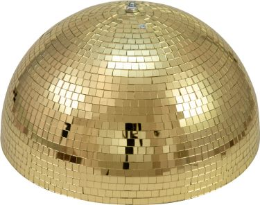 Eurolite Half Mirror Ball 40cm gold motorized