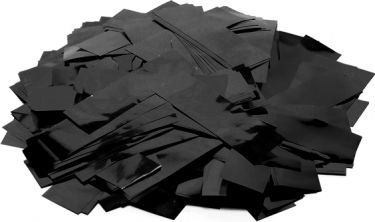 TCM FX Metallic Confetti rectangular 55x18mm, black, 1kg