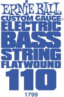 Bas Strenge, Ernie Ball EB-1799, Single .110 Flatwound Nickel string for Electri