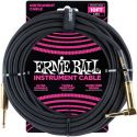 Kabler, Ernie Ball EB-6081 Instrument Cable, Superior braided cable, black