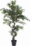Europalms Ficus Forest Tree, artificial plant, green, 110cm