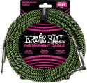 Kabler, Ernie Ball EB-6082 Instrument Cable, Superior braided cable, black