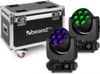 MHL740 LED Moving Head Zoom 7x40W 2 pieces in Flightcase