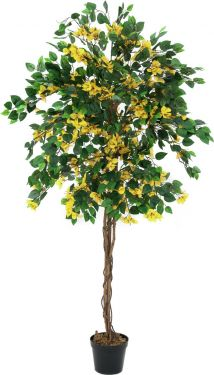 Europalms Bougainvillea, artificial plant, yellow, 180cm
