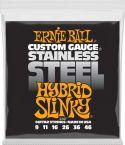 Guitarstrenge, Ernie Ball EB-2247, Stainless Steel Hybrid Slinky 9-46