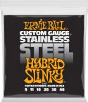 Elguitar, Ernie Ball EB-2247, Stainless Steel Hybrid Slinky 9-46