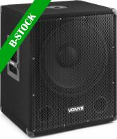 "SMWBA15MP3 Bi-AMP Subwoofer 15inch/600W & Bluetooth ""B-STOCK"""