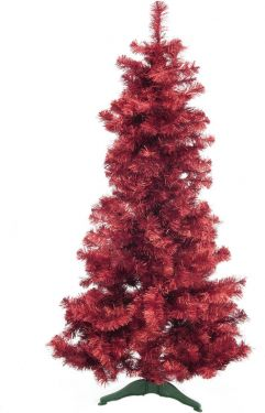 Europalms Fir tree FUTURA, red metallic, 180cm