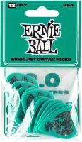 Plektre, Ernie Ball EB-9196 Everlast 2.0-Teal,12pk, 12-pack 2.0 mm Delrin picks