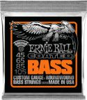 Bas Strenge, Ernie Ball EB-3833, Coated Hybrid Slinky Bass 45-105