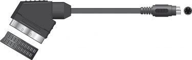 SX48 SCART plug to S-VHS plug, 1.5m - Blister