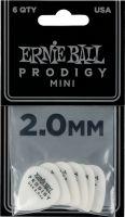 Plektre, Ernie Ball EB-9203 PRODIGY-PICK-WH-3s,6PK, High performance Guitar