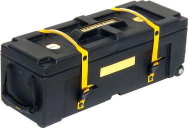 """Hardcase 28"""" Hardware Case, Kasse til stativer og tilbehør. Med hju"""