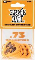 Ernie Ball EB-9190 Everlast .73-orange,12pk, 12-pack 0.73mm Delrin