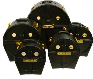 Hardcase Standard Drum Case Kit, Komplette sæt. Sæt med 14S, 12T, 1