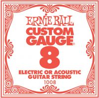 Ernie Ball EB-1008, Single .008 Plain Steel string for Eletric or A