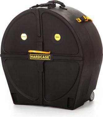 "Hardcase 24"" Marching Bass Drum Case, 24"", med hjul"