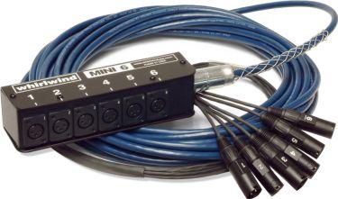 Whirlwind MS-6-M-NR-025, Til 6 mikrofoner, D3F/A3M: Til 6 mikrofone