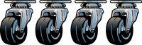 Ernie Ball EB-6101, 4 stk. hjul med fæsteplader til udvendig monter