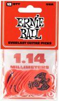 Plektre, Ernie Ball EB-9194 Everlast 1.14-Red,12pk, 12-pack 1.14 mm Delrin p
