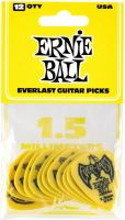 Plektre, Ernie Ball EB-9195 Everlast 1.5-Yellow, 12pk, 12-pack 1.5 mm Delrin