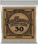 Musikinstrumenter, Ernie Ball EB-1830, Single .030 Wound Earthwood Phosphor Bronze str