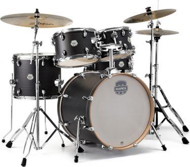 Mapex ST5045FIK, 5-pce Storm Series Fusion Drum Set - Ebony Blue Gr