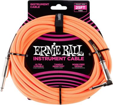 Ernie Ball EB-6067 Instrument Cable 7,5 M, Superior braided cable