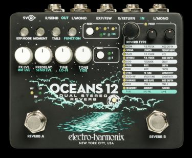 Electro Harmonix Oceans 12, Reverb, Oceans 12 - A reverb generating