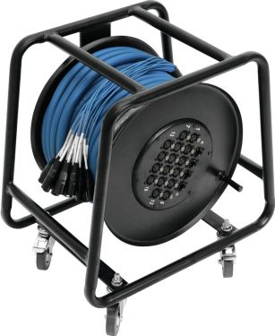 Omnitronic Multicore Stagebox 16/4 30m cable reel