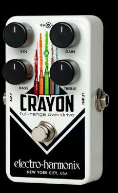 Electro Harmonix EHX Crayon Overdrive, A versatile overdrive that l