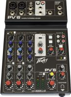 Peavey PV-6 Mixer, 6-channel compact mixer with USB audio streaming
