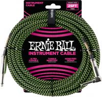 Ernie Ball EB-6082 Instrument Cable, Superior braided cable, black
