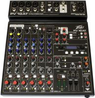 Peavey PV-10 AT Mixer, 10 channel stereo mixer with digital effects