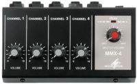 Monacor Mikrofon mixer, 4 kanals mono