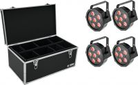 Eurolite Set 4x LED SLS-6 TCL Spot + Case TDV-1