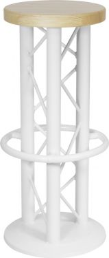 Alutruss Bar Stool with Ground Plate white