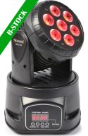 "MHL-74 12-kanals Moving Head Wash LED DMX, 7x 10W RGBW ""B-STOCK"""
