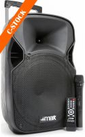 "Transportabelt lydanlæg, P12BT Portable Sound System 12"" BT/MP3/USB/SD/VHF/IRC ""C-STOCK"""