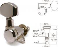 Schaller M6 Locking Chrome (3L+3R)