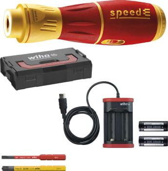 """<span class=""""c90"""">WIHA -</span> E-skruetrækker speedE® II 1000V, SL/PZ2, LED"""