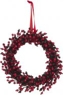 Artificial plants, Europalms Berry wreath mixed 46cm