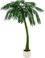 Europalms Palm, 1 trunk, artificial plant, 300cm, green